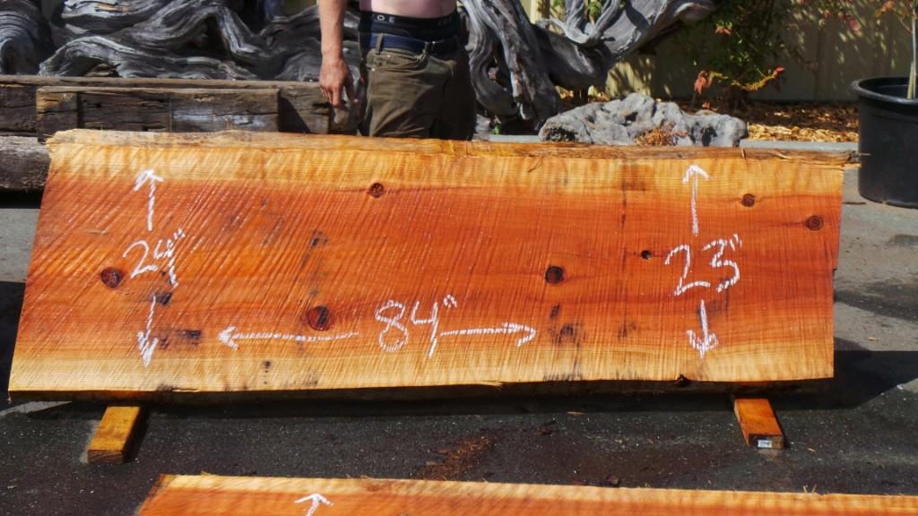 Real Wood Kitchen Island New Growth Redwood Slab