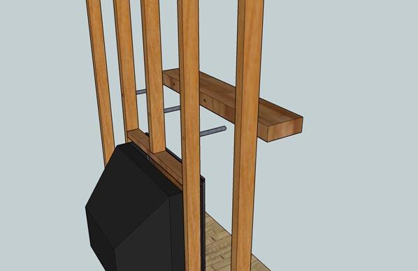 Fireplace Mantel Installation Method - Rebar installation method