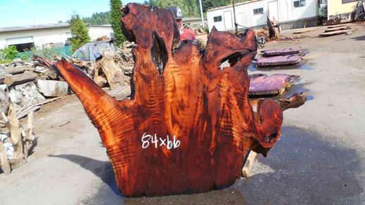 Large Lived Edged Redwood Sump Cut