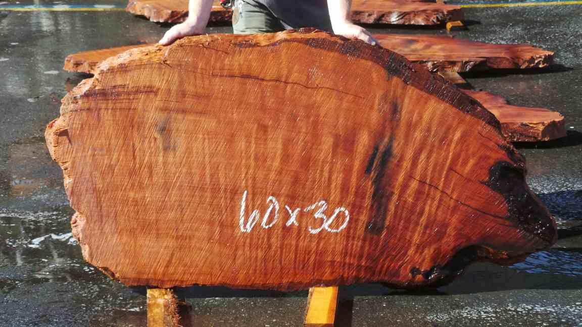 Redwood Slab for Personal Redwood Desk