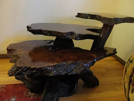 Pleasant Pricing A Vintage Redwood Burl Table Redwood Burl Inc Beutiful Home Inspiration Cosmmahrainfo