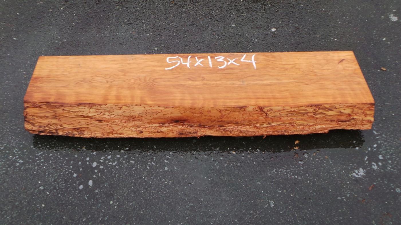 Redwood Mantelpiece