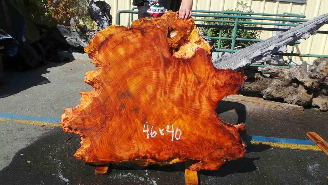 Growth Ring Wood Slab - Figured Redwood Burl