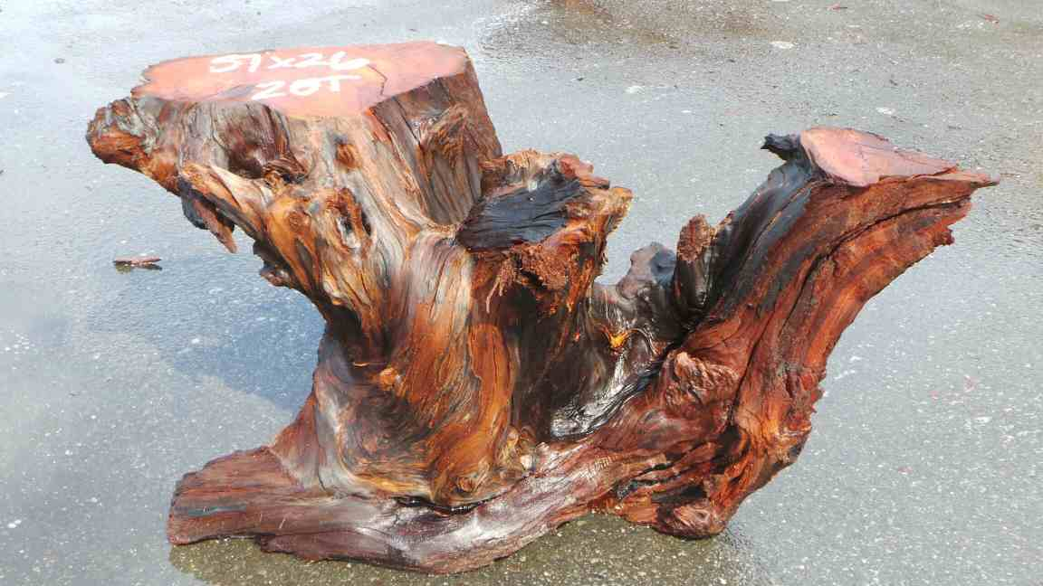 Rustic Table Base - Reclaimed Redwood Rustic Table BAse