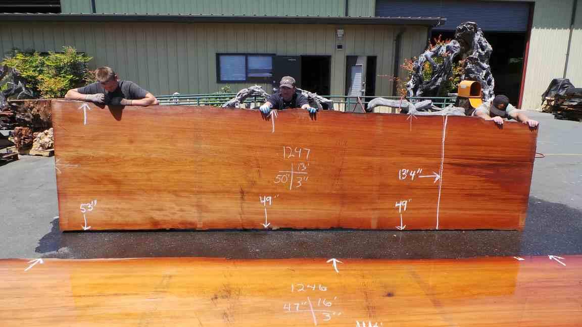 Slab Dining Table for Sale - Redwood Slab for Kitchen Table Top