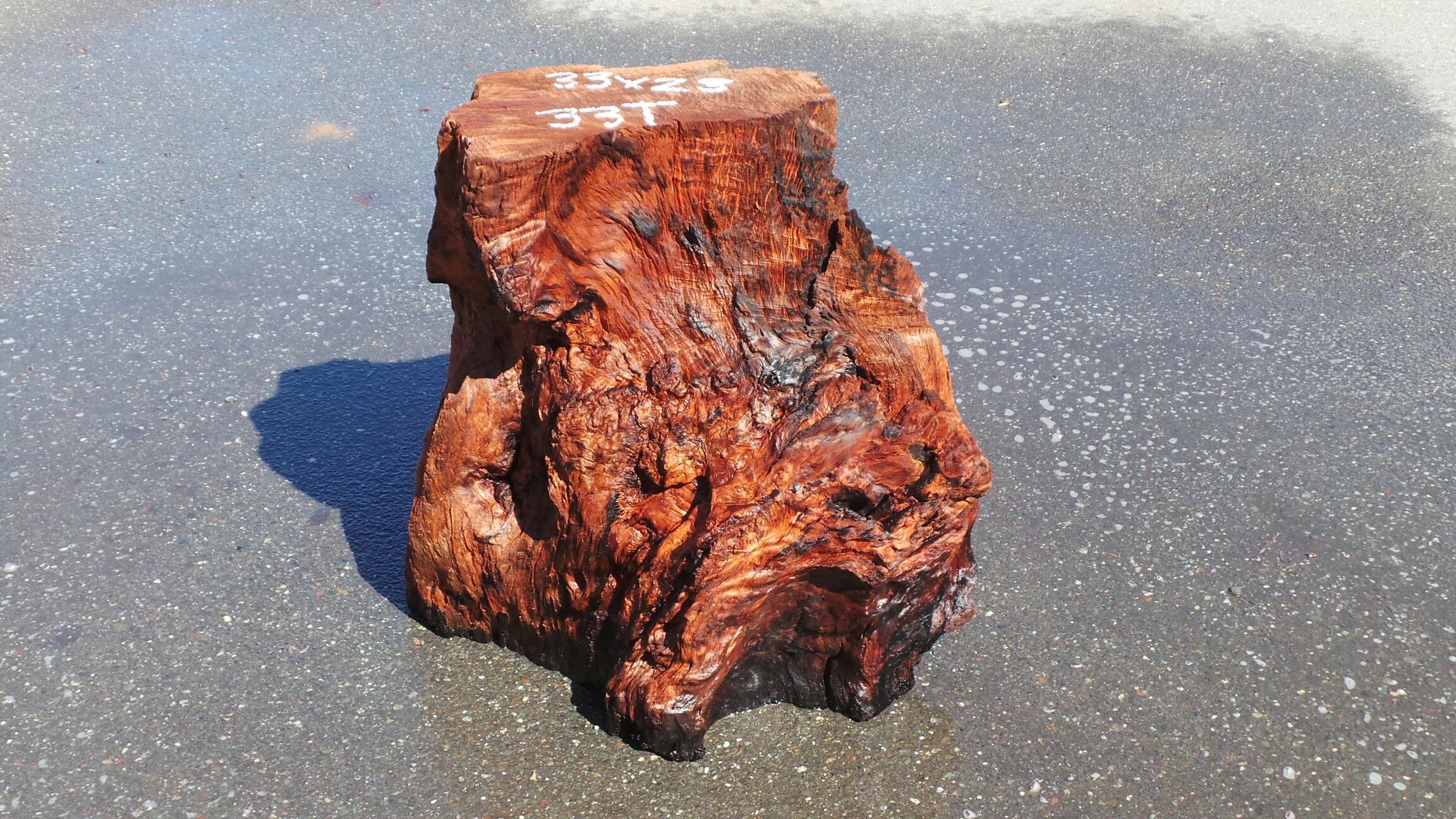 Redwood Tree-Stump Side Table