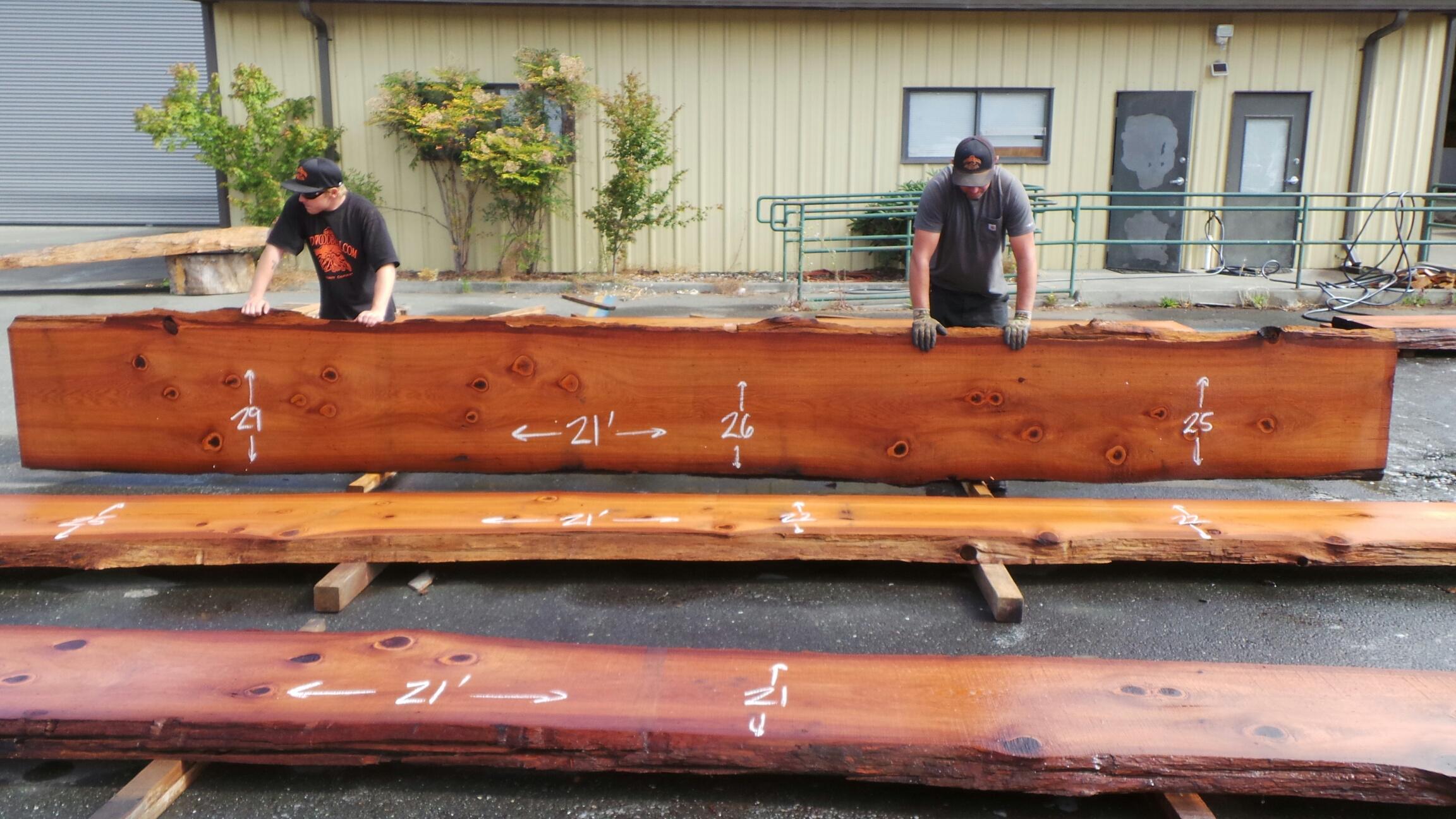 Redwood Live Wood Slab Kitchen Countertops