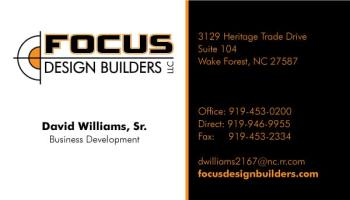 this business card design also focus design builders - Business Card Builder