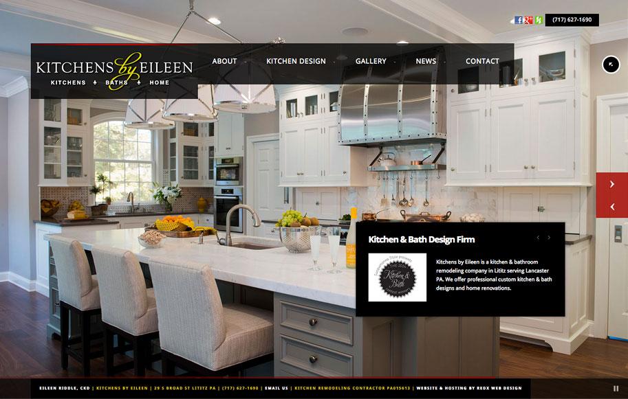 Kitchens by Eileen // Lititz, PA Website Redesign - RedX Web Design