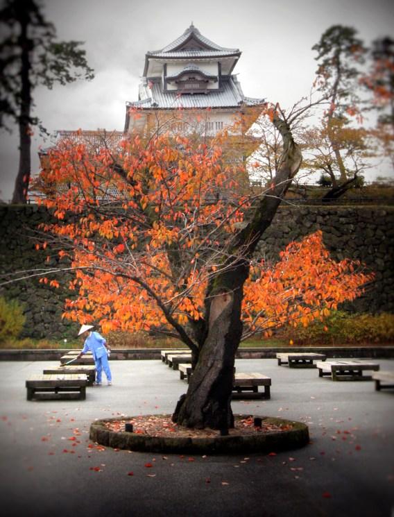 Kanazawa Castle in Fall