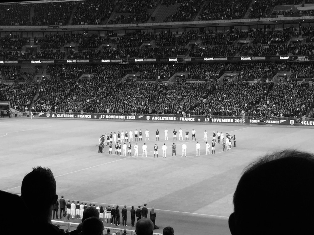 Wembley welcomes France and England friendly on a night where football was irrelevant (1/6)