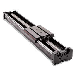 Reed switches in pneumatic linear slide