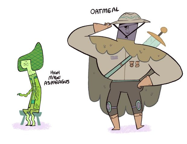 Other Graphic Novel Characters Arch Mage Asparagus and Adventurer Oatmeal