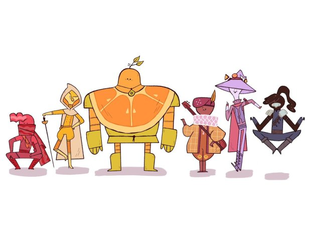 The Foodies Graphic Novel Character Line-up