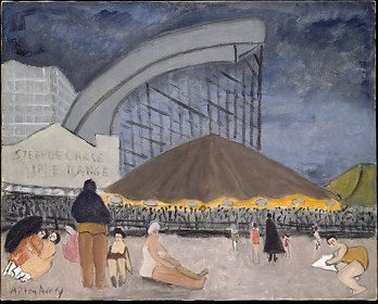 The Steeplechase, Coney Island by Milton Avery, Oil on Canvas (source: http://bit.ly/1dR4AFz)
