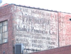 Faded Ad on the Side of a Building in Brooklyn, 1960s (source: http://bit.ly/1dR6mX5)