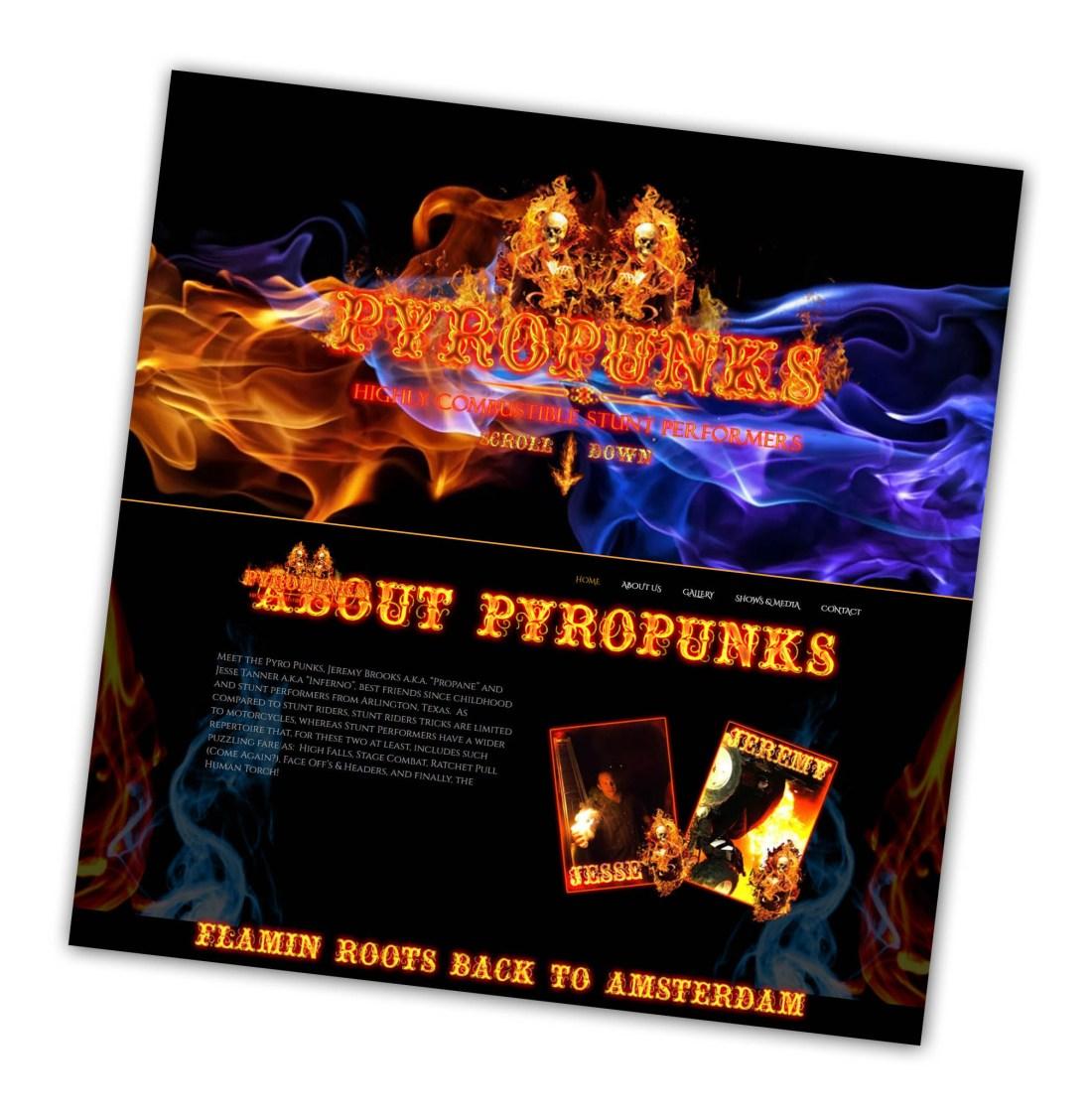 PyroPunks 1 Page Site