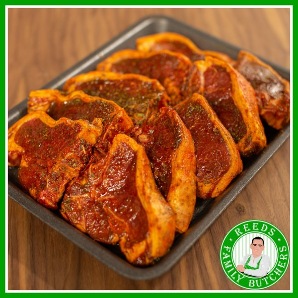 Buy a £10 tray of Minted Lamb Chops online from Reeds Family Butchers