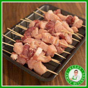 Buy a £10 tray of Pork Kebabs online from Reeds Family Butchers