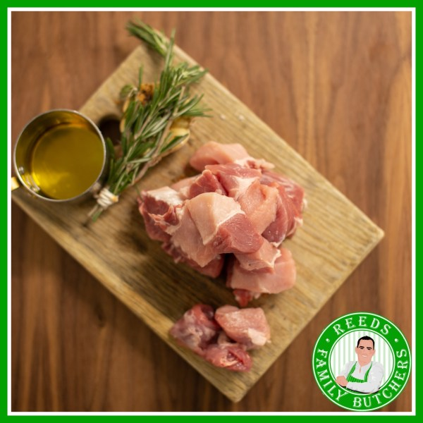 Buy Diced Pork x 500g online from Reeds Family Butchers