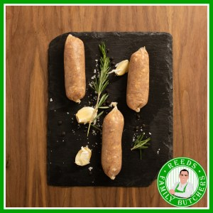 Buy Pork, Jerk & Banana Sausages - 8 Pack online from Reeds Family Butchers