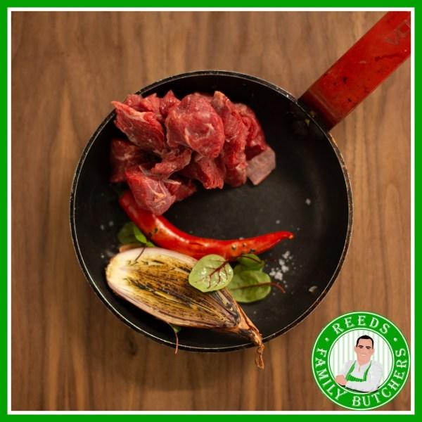 Buy Diced Braising Steak x 500g online from Reeds Family Butchers