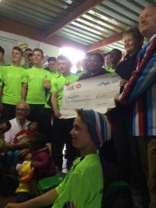 Reeds Weybridge RFC U16 Present Baphumelele With ?3,000