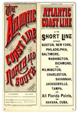 Atlantic City Pennsylvania Railroad Metal Sign Vintage Look Reproduction