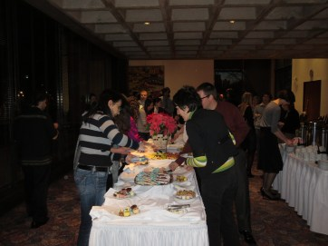 Guests selecting some dessert
