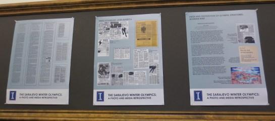 """Main Library exhibit """"The Sarajevo Winter Olympics: A Photo and Media Retrospective"""""""