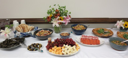 Delicious homemade food served at the 2014 SRL reception