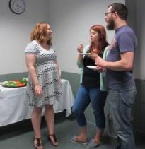 Linda McCabe (REEEC Office Support Specialist), Gabriella Repala (junior in REEEC), and Jeremy Crumpton (senior in REEEC).