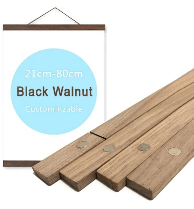 black walnut wood magnetic poster frame
