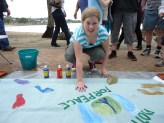 Painting Footprints for peace