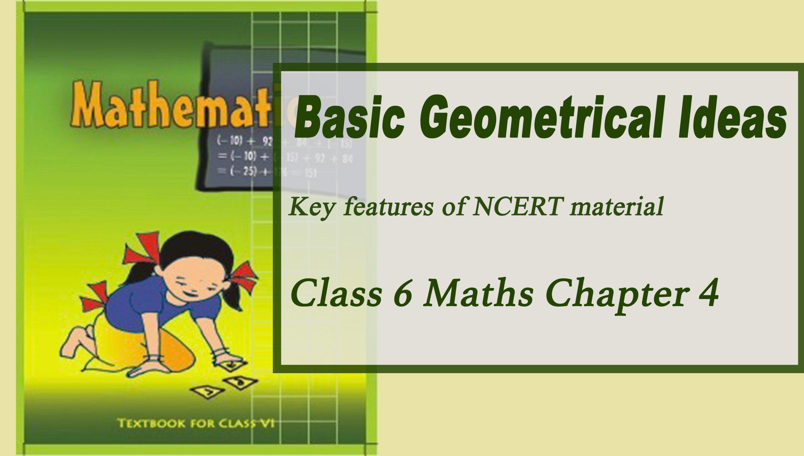 Basic Geometrical Ideas Class 6 Maths Ncert Chapter 4