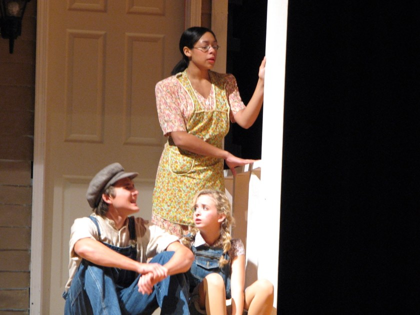 Photo of Tamara Austin in To Kill a Mockingbird, senior year of high school