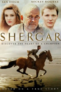 Image shows the theatrical poster of the horse movie Shergar.