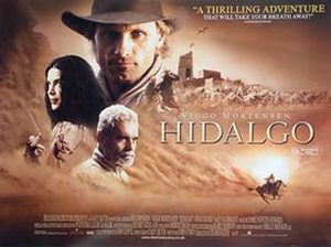 Image shows theatrical poster of the horse movie Hidalgo.