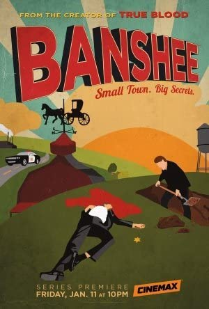 Image shows Banshee poster which relates to article on opening show credits