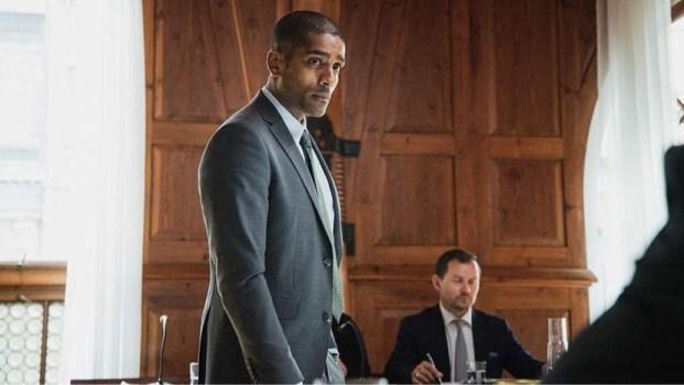Image shows Alexander Karim as Frank Nordling in The Lawyer