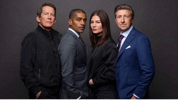 Image shows main cast of The Lawyer. (Advokaten)