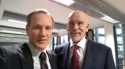 Brian Caspe (left) with John Malkovich (right)