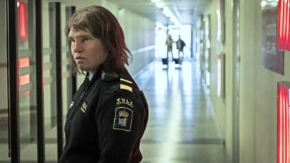 Eva Melander as Tina in Border wearing a Swedish border guard uniform