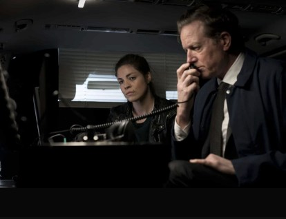 Natalie Madueño (Louise) left with Peter Mygind (MT) right in Darkness: Those Who Kill