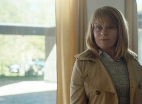 Signe Egholm Olsen as Stind Velin in a scene from Darkness: Those Who Kill