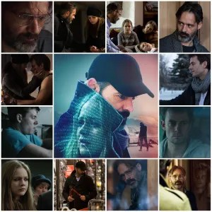 Photo montage of scenes from The Oath. Central image is the theatrical poster for the film.