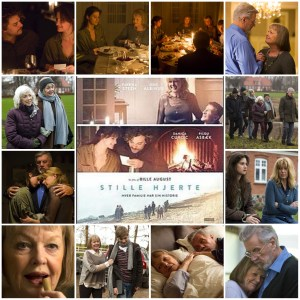 A photo montage of scenes from Silent Heart. Central image is the theatrical poster for the film