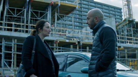 Dar Salim (right) as Zaid with Stine Fischer Christensen (left) as Stine in a scene from Darkland