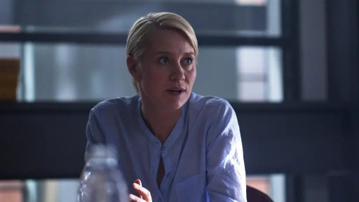Trine Dyrholm as Mia in a scene from The Shooter