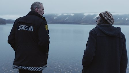 Ingvar Sigurðsson as Ásgeir (Left) in a scene from Trapped S1